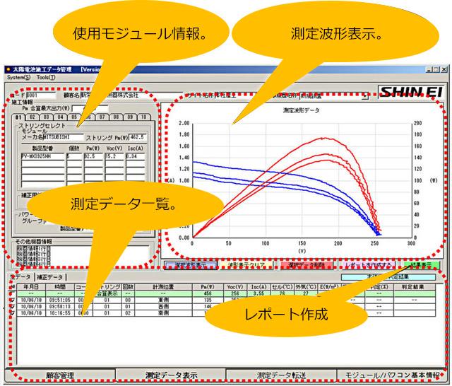 測定データ画面