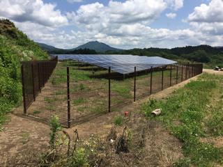 太陽光発電所用 フェンス