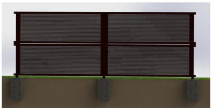 3.目隠しフェンス完成