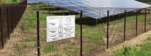 太陽光フェンス専用標識(看板)